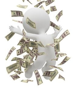 3d small people - money rain