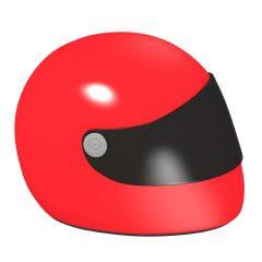 3d render of racing helmet