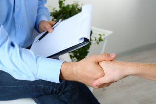 Handshake during counseling